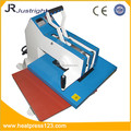 manual heat printing picture to T-shirt machine on factory