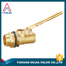 "TMOK bottom price brass ball float valve good quality 1/2"" inch small water tank float valve lever float valve"