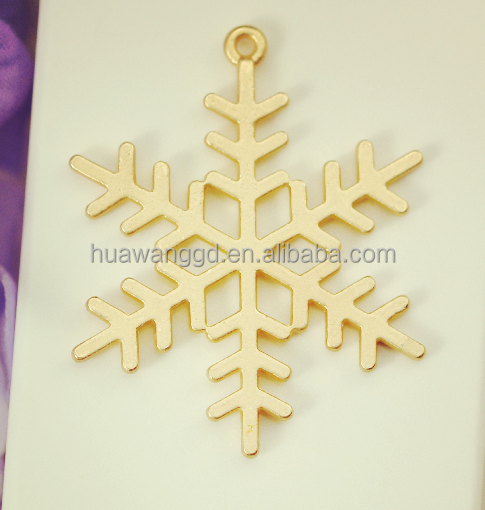 Christmas snowflake charms&pendants,Antique Gold snowflake necklace&Bracelet Accessories