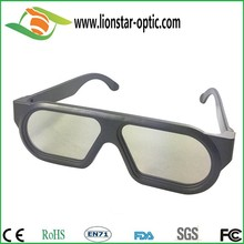 Angular plastic frame 3d linear polarizer glasses, classic 3d glasses for 3d movie for adults