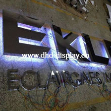 Waterproof outdoor illuminated led letter sign advertising