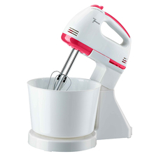 200W Best hand food mixer with plastic bowl