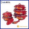 6Pcs enamel indian curry pot