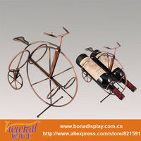Metal bicycle shape wine bottle holder BN-C0011