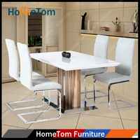 2016 Wholesale Best Quality High Gloss Wood Table Hometom Furniture