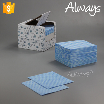 Washable wave spunlace non woven cleaning Towel wipe