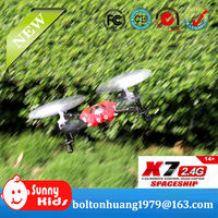 2.4G 4CH RC Quadcopter RC UFO quadcopter intruder ufo X7