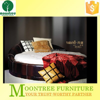 Moontree MBD-1112 leather king size round shape bed sets