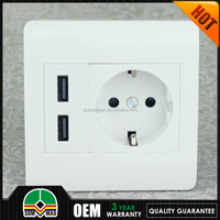 5v 2.1a usb wall charger dual extended usb socket,CE and RoH standard Wall Socket