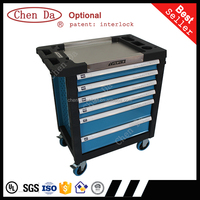 2016 new design High quality 27inch 6 drawers tool cabinet with wooden top with 220pcs hand tools set