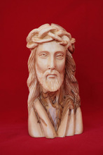 olive wood Jesus statue carving