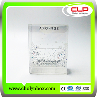 Offset Lithography clear plastic package box for make up