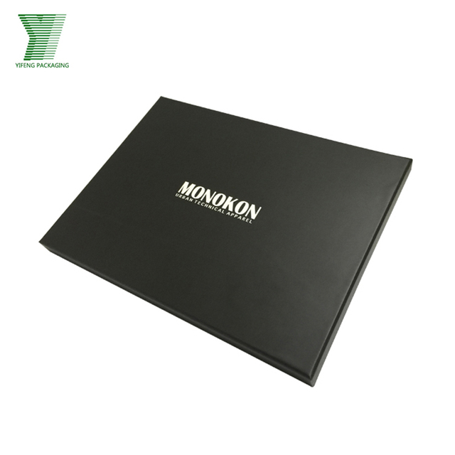 High End Right Angle Long Black Frame Paper Box With Your Own Logo
