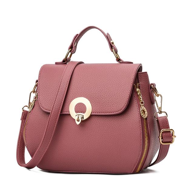 1HD0064 Wholesale Newest Korea Fashion Style Leather Solid Small Sqare Bag Ladies Handbag