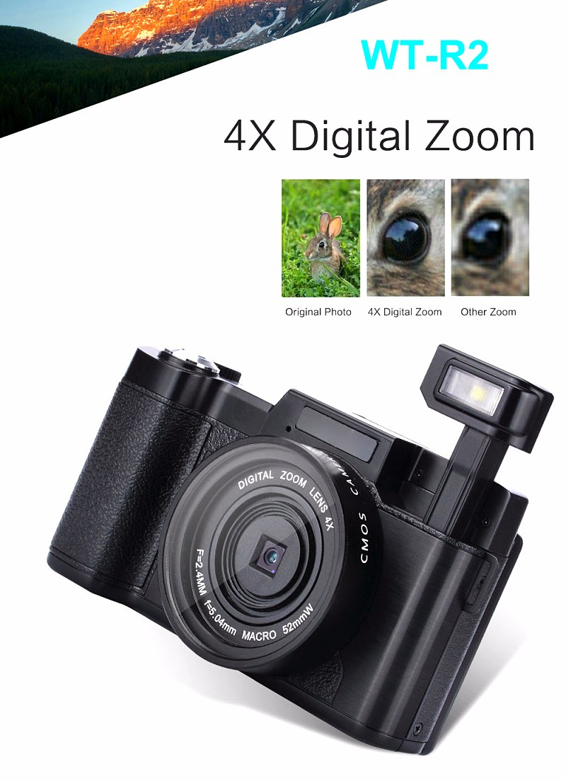 2016 newest DLSR camera with 3.0'' TFT display and changeable lens digital camera