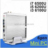 Mini Pc 6th Generation CPU Core i7 6500U 6600U Intel Nuc Fanless pc Windows10 Desktop Computer Barebone