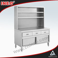 Restaurant Commercial Kitchen Stainless Steel Work Bench Cabinet(INEO are professional on commercial kitchen project)