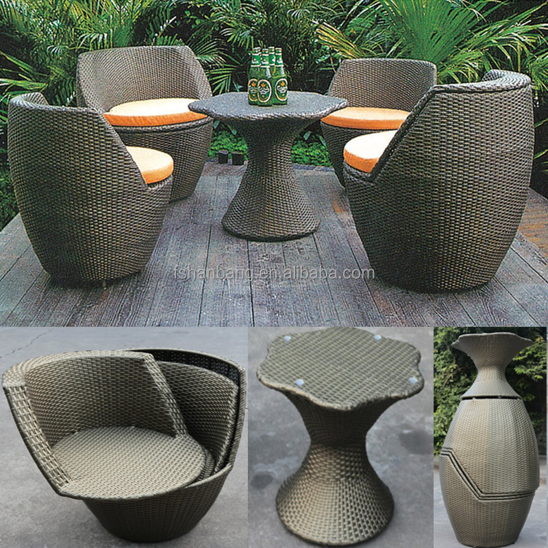 Factory Outlet Outdoor Rattan Resin Wicker Patio Garden Furniture 3, 5 pieces Table Chairs Set Liquidation Clearance Sale