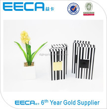 Hot sale rectangular zebra color printing gift packaging box with magnet closure in china