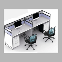 Modern double commercial computer desk