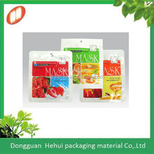 facial mask sheet bags with custom shape