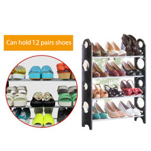Easy install outdoor shoe storage cabinets plastic shoe rack with 4 tiers