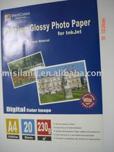 300gsm Double-side Premium glossy&silky(Rc-base) inkjet photo paper (paper supplier)