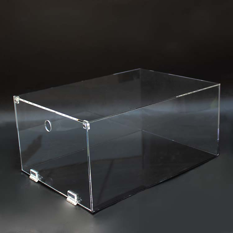 Cheap Clear Acrylic Sneaker Glass Shoe Box Drop Front Acrylic Sneaker Box For Shoe Display <strong>Show</strong>