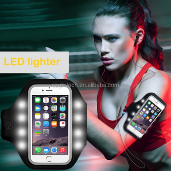 LED armband For apple iPhone 7,for iPhone 7 Neoprene sports armband mobile phone accessories