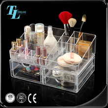 Top supplier wholesale three layer acrylic makeup organizer with drawers