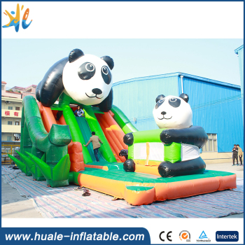 Guangzhou professional supplier giant inflatable slide/inflatable panda slide castle for children