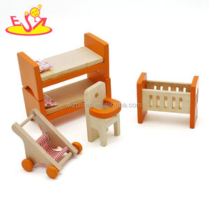 New design toy model wooden miniature dollhouse furniture for doll W06B057