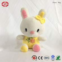Fancy kids love plush stuffed rabbit soft sitting animal bunny keychain with sucker promotional toy