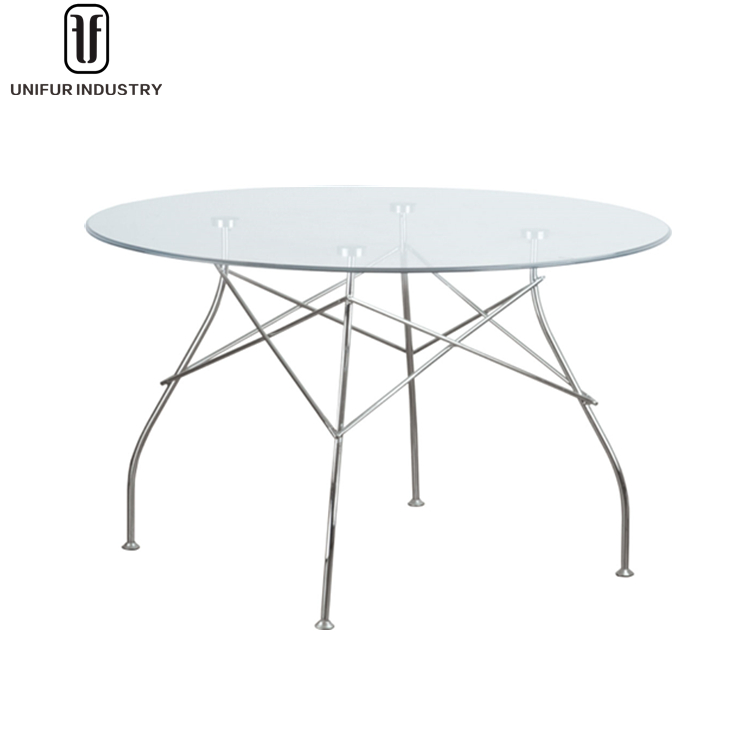 Replica Antonio Citterio with Oliver law round glass top glossy tables for office/home