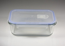 glass container with PP lid airtight Microwave oven safe pyrex rectangular /glass kitchenware/glass luch box/glassware