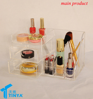 acrylic household items beauty vanity cute acrylic makeup cosmetic organizer