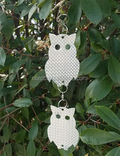 Stainless Steel Hanging Bird Scare Reflective Owl Discs