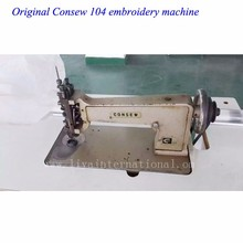 Used chain stitch embroidery machine Consew 104 industrial sewing machine for sale