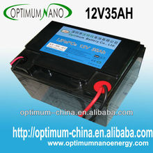Professional large capacity LiFePo4 12v 35ah battery for Electric bicycle