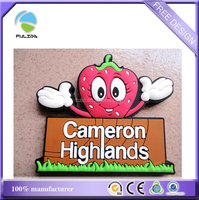 Custom Fruit Strawberry Farm PVC Rubber Refrigerator Magnet Fridge Magnet