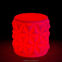 glowing party rental round furniture/illuminated bar table/long plastic bar table