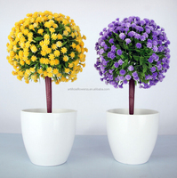 Cheap Wholesale small artificial snow ball bonsai flower fake plant