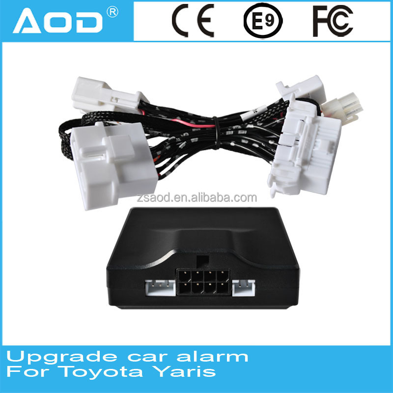 Plug and play CAN BUS one way car alarm system ,China factory,upgrade car alarm for Toyota Yaris