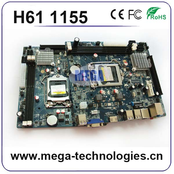 Mainboard H61Chipset 1155 I3/I5/I7 Motherboard With 6 LAN