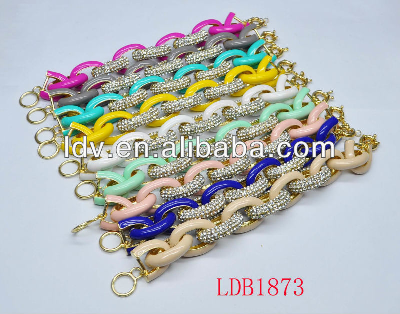 Arm Candy - Half and half - Gold chain and Silk Knot Bracelet By Yiwu Landy Jewelry Factory