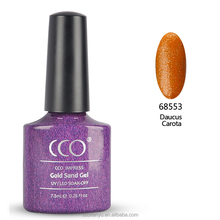 CCO special 18 colors 7.3ml 15ml soak off gold sand nail art gel uv uv led gel polish with OEM ODM service