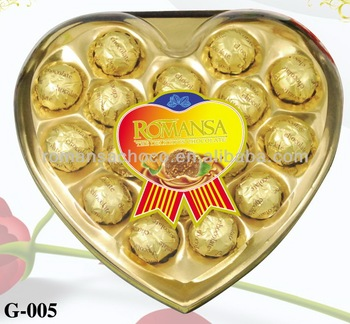 Heart shape Compound Chocolate with Peanut 16PCS 200g-G-005