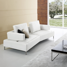 Modern Noble White Leather Japanese Style Sofa Fancy Sofa Set Living Room Smart Sofa