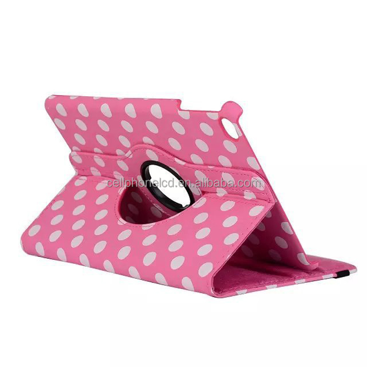 Funky Polka Dots Pattern 360 Degree Rotation Smart Leather Stand Case Cover for Apple iPad 3 4 5 Air 2 Mini Pro