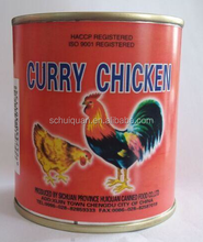 buy direct from china wholesale, canned chicken 312g Canned Curry Chicken